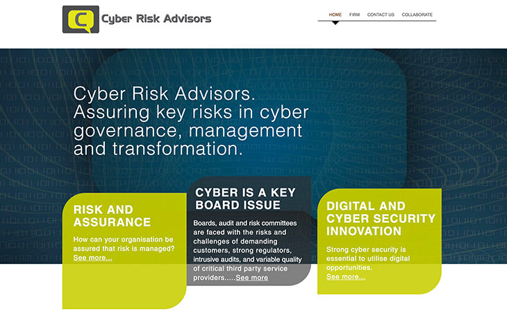 Cyber Risk Advisors website